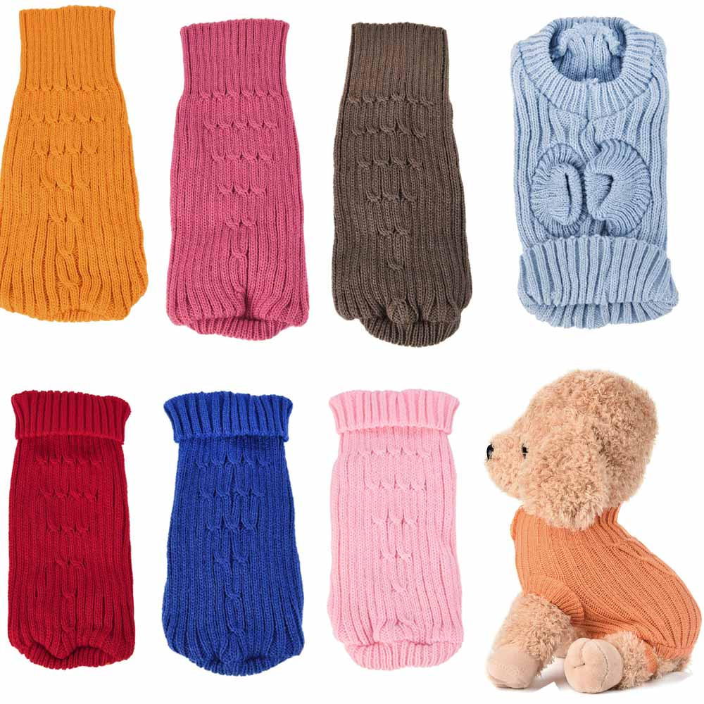 Small Dogs Costume Clothes For Little Dogs Overalls Pet Dog Cat Knitted Jumper Winter Warm Sweater Puppy Coat Jacket Costume