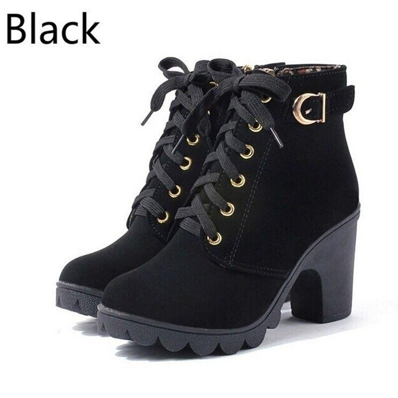Женские ботинки на платформе и высоком каблуке, теплые ботинки на резиновой подошве с толстым мехом, Осень-зима 2019