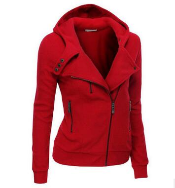 New Spring Women hoodies sweatshirts zipper V Neck Long Sleeve Warm Female Hoodies jacket Sudaderas Mujer