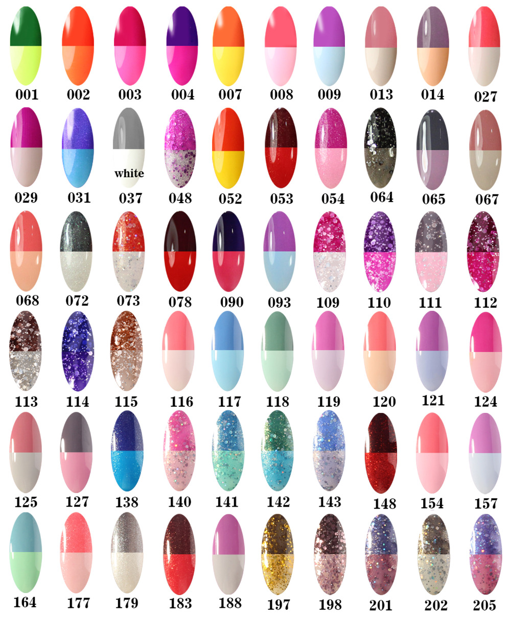 Gel Len Temperature Color Changing Nail Polish 60 Colors French Manicure Pink Soak Off Led Uv In From Beauty Health On