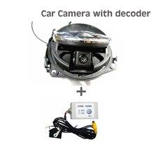 Envío libre Para El Golf 6 MK6 Passat B7 CC Magotan Escarabajo Flipping cámara Retrovisora + Decodificador Para VW Badge Logo Cámara RGB RCA puerto