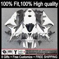 Комбинезоны для Honda CBR600RR 07 08 инъекций 26JK10 CBR600 белый черный RR F5 CBR 600RR 600 RR 07 08 2007 2008 обтекателя глянцевый белый