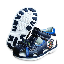 new 1pair summer Boy Orthopedic Shoes PU Leather Children Sandals, Kid children's shoes