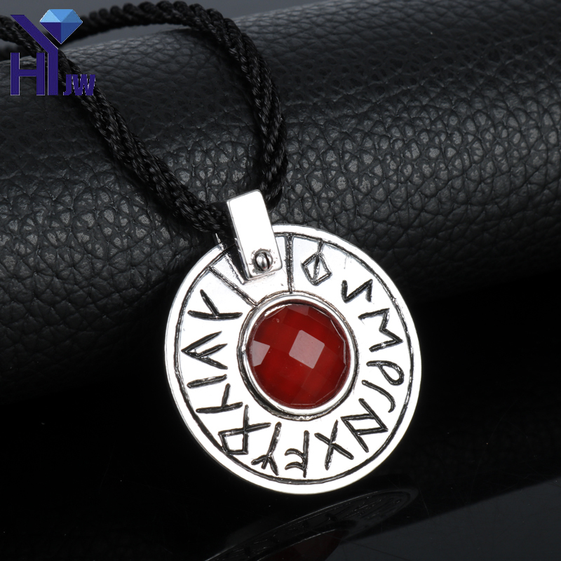 HEYu Hot Movie Jewelry The Seventh Son Magic Necklace Witch Ultimate Charm Crystal Tom Ward Custom Made Rune Pendant Necklace