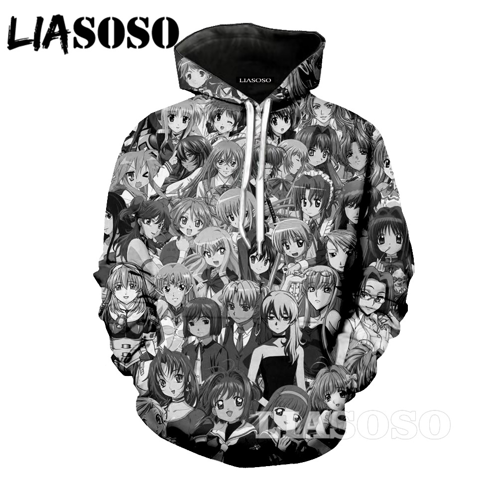LIASOSO 3d printed men 3D Unisex Sweatshirt Men Brand Hoodie Comic Casual Tracksuit Fashion Hooded Pullover Streetwear pi6589