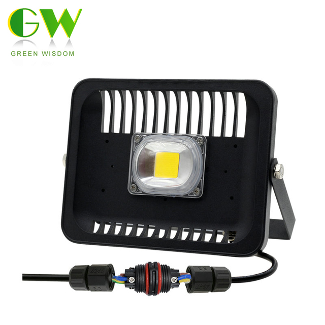 Led Floodlight 30W/50W/100W Waterproof IP 65 Flood Light With 3pin Waterproof Connector Outdoor Lighting Lamp