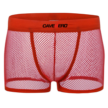 Transparent Sexy Underwear Boxer Pouch Trunks Underpants See Though Breathable Men