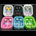 3.5MM inner Earphone  earset for cd player mp3 mp4 earphone colorful 1000pcs/lot free shipping