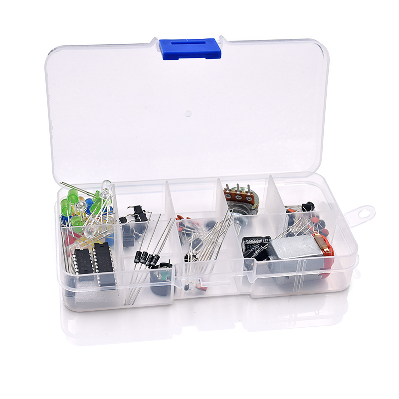 Electronic Universal Parts Kit Breadboard LED Cable Resistor Potentiometer Capacitance for Arduino UNO Kit