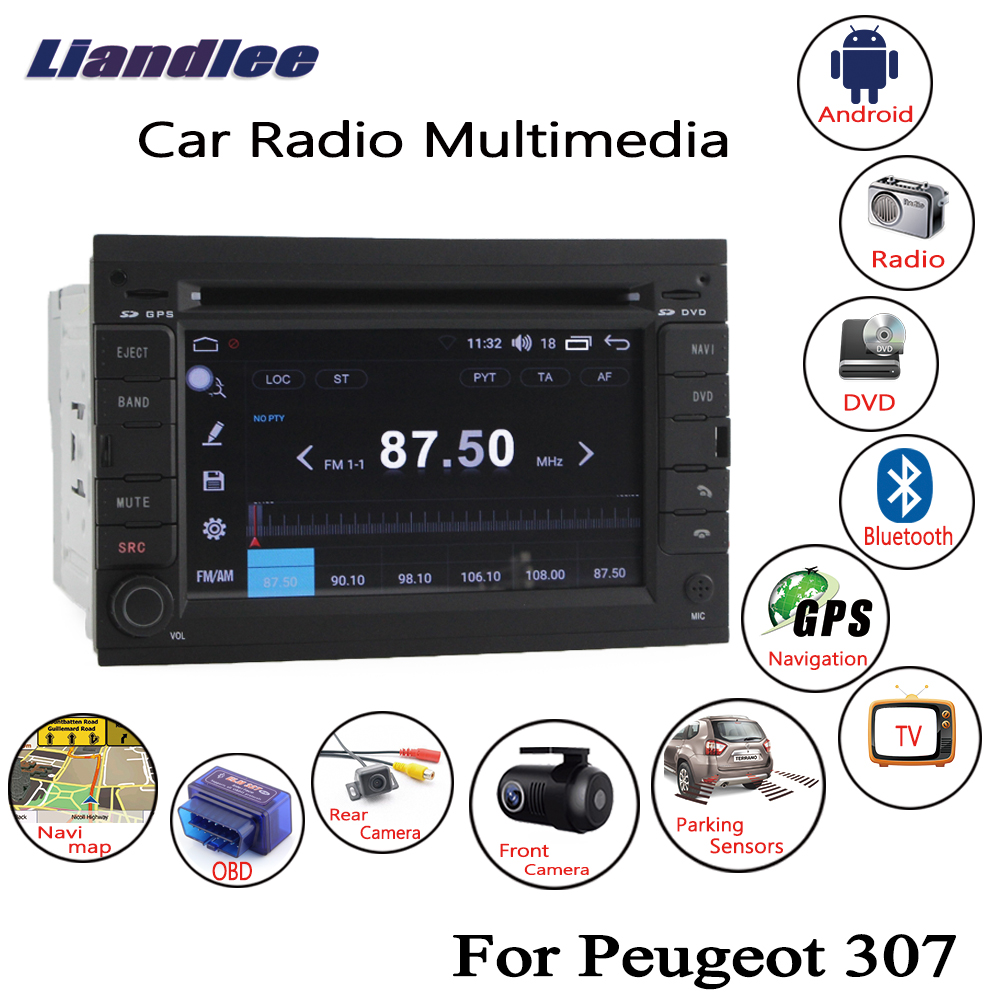 Liandlee For Peugeot 307 2002~2013 Android Car Radio CD DVD Player GPS Navi Navigation Maps Camera OBD TV HD Screen Multimedia liandlee for ford edge 2011 2014 wince car radio cd dvd player gps navi navigation maps camera obd tv screen multimedia