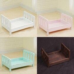 Съемные студийные реквизиты для детской кроватки, фон для фотосъемки детей, деревянная кровать, диван, корзина, аксессуары для новорожденны...