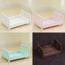 Crib Posing Detachable Studio Props Background Gift Baby Photography Photo Shoot Infant Wood Bed Sofa Basket Accessories Newborn(China)