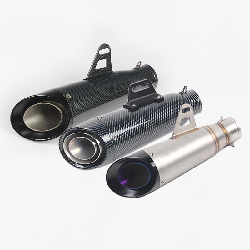 36-51mm 0r 60mm Universal Motorcycle Exhaust Muffler Tip Pipe Modified Moto Escape Exhaust System Fit for most motorcycle
