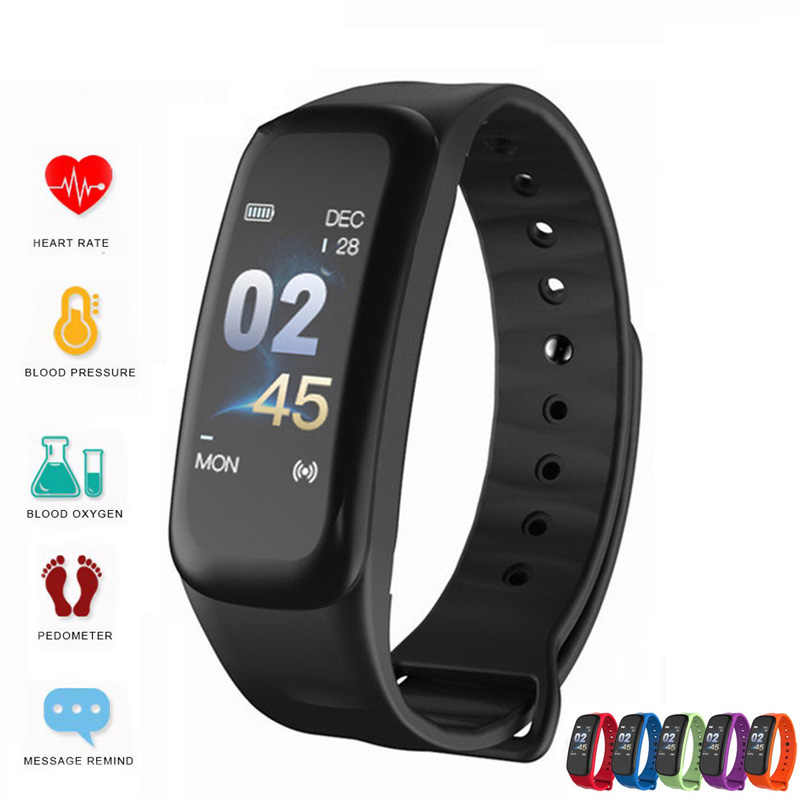 ספורט Smartwatch כושר גשש חכם צמיד עמיד למים דם לחץ Bluetooth חכם Mi Band עבור אנדרואיד IOS טלפון