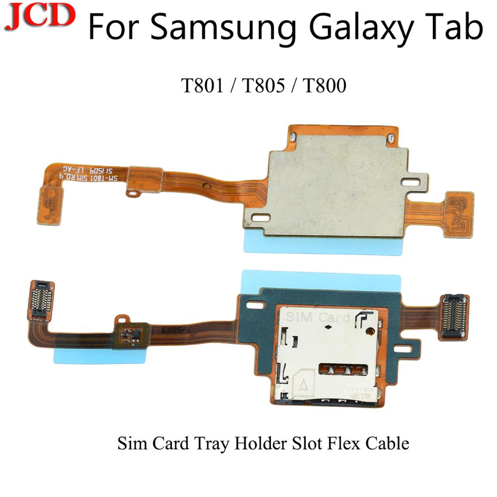 JCD SIM Card Reader Holder Tray Slot Socket Flex Cable For Samsung Galaxy Tab T801 T805 T800 SM-T801 SIM Card Reader Flex Cable