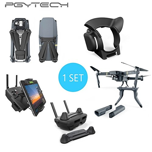 PGYTECH 1 Set Thumb Stick Guard Rocker Protector Holder Extended Landing Gear Leg Lens Hood Pad Holder for DJI MAVIC PRO pgytech dji mavic 2 landing gear riser extended landing gear leg for dji mavic 2 pro zoom fly more combo drone accessories parts