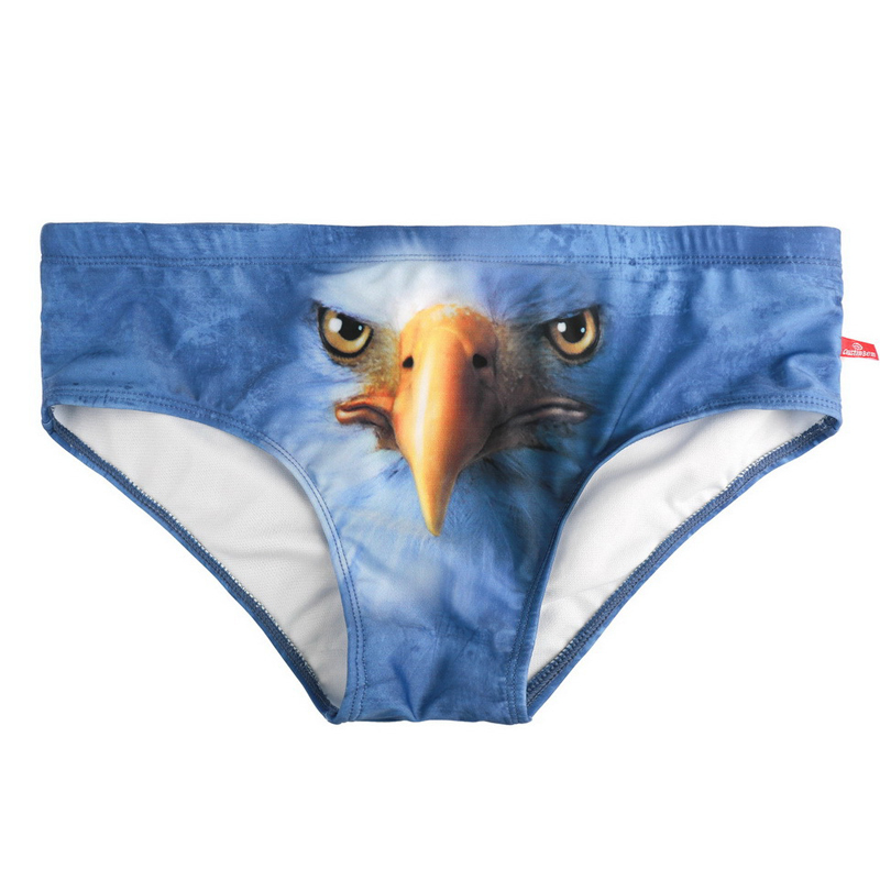 Swim Briefs Shorts Printing Beach Mens Sunga Summer 244 Eagle