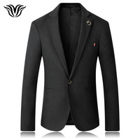 Men S Solid Color Jacket 2018 Spring And Autumn Latest Listing British Style Slim Suit Jacket