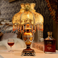 New Resin Table Lamp Palace Decorative Resin Base Table Lighting With Fabric Shade For Bedroom Reading Lights