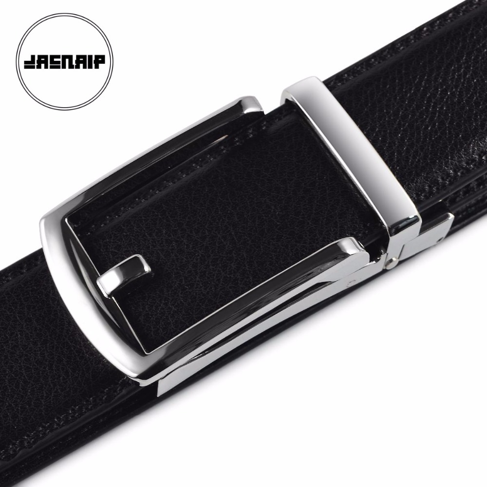 [JACNAIP] Mens Genuine Leather Ratchet Dress Belt 2017 new arrival INNOVATIVE buckle belt ...
