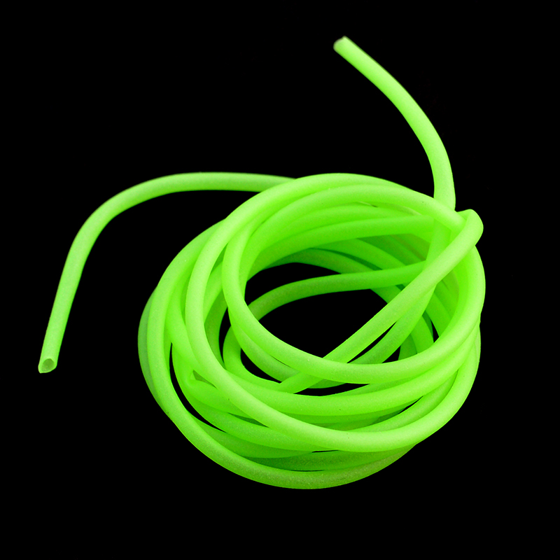 Luminous Fishing Tube 1 Piece 2 Meters Green Soft Silicone Fishing Sleeves Fishing Rig Hook Line Accessories