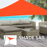 3x3m Waterproof Shade Sail Screen Net Polyester Cloth Spin Sail Square Sails Outdoor Oxford Cloth Wind Triangle Shading Sail