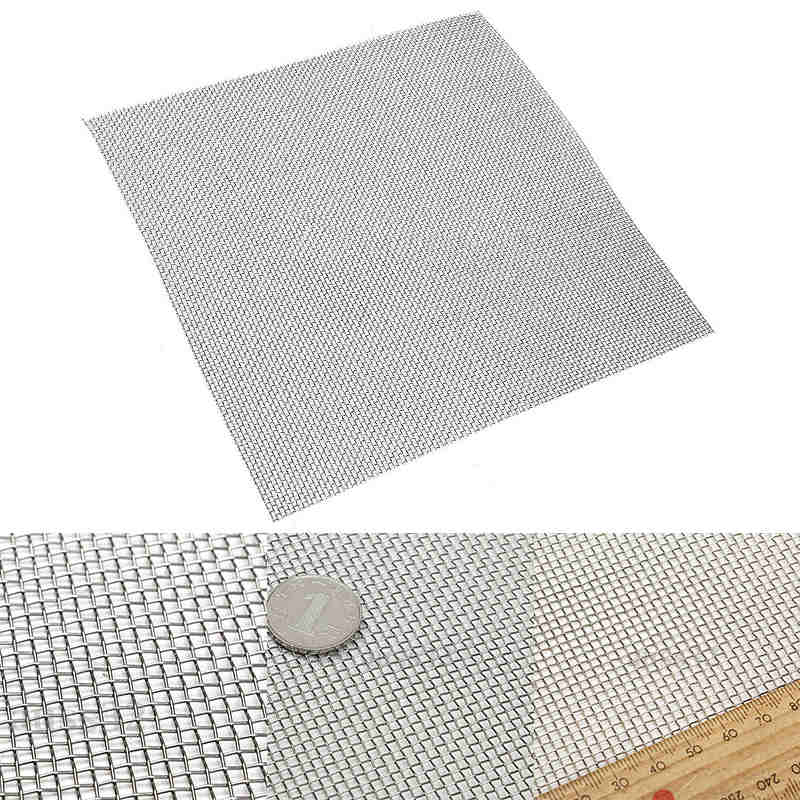 Mayitr Stainless Steel 10 Mesh Filtration Water Resistant Wire Cloth Screen Filter 30*30cm For Filtering Industrial Paint Water stainless steel 100 mesh filtration woven wire cloth screen water filter sheet 11 8 mayitr wear resistant home filtering tools