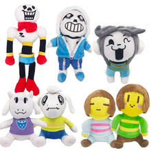 Undertale Plush Toy Doll 20-35cm Sans Papyrus Frisk Chara Temmie Stuffed Toys for Children Kids Gifts