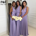 2017 Summer Sexy Women Maxi dress Purple Long Dress Sexy Multiway Bridesmaids Convertible Dress robe longue femme
