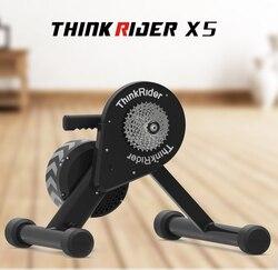 Thinkrider x5 20-29 mtb bicicleta treinador inteligente unidade de corrente direta built-in power meter formadores para powerfun, zwift, perfpro
