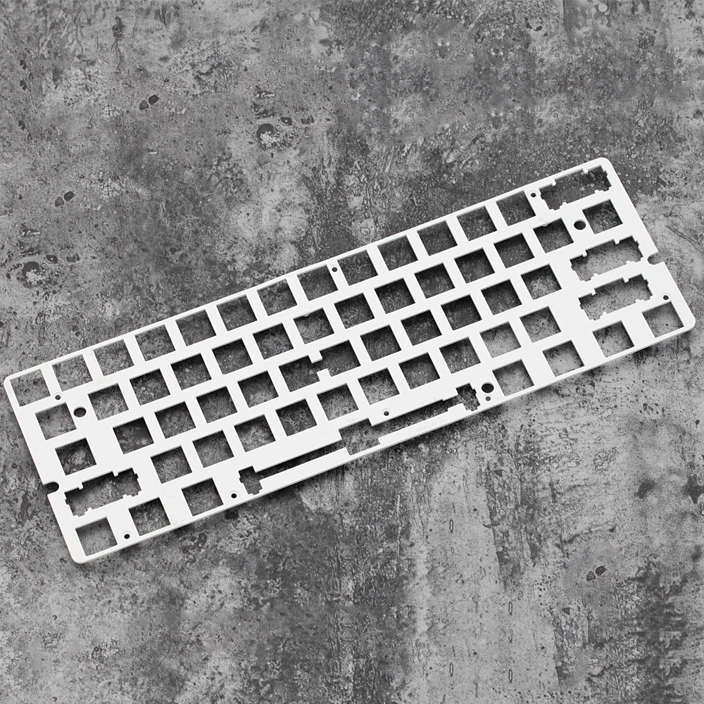 60% Aluminum Mechanical Keyboard Plate Support Gh60 Gk61 White Color Only Support Plate Mount Stabilizer