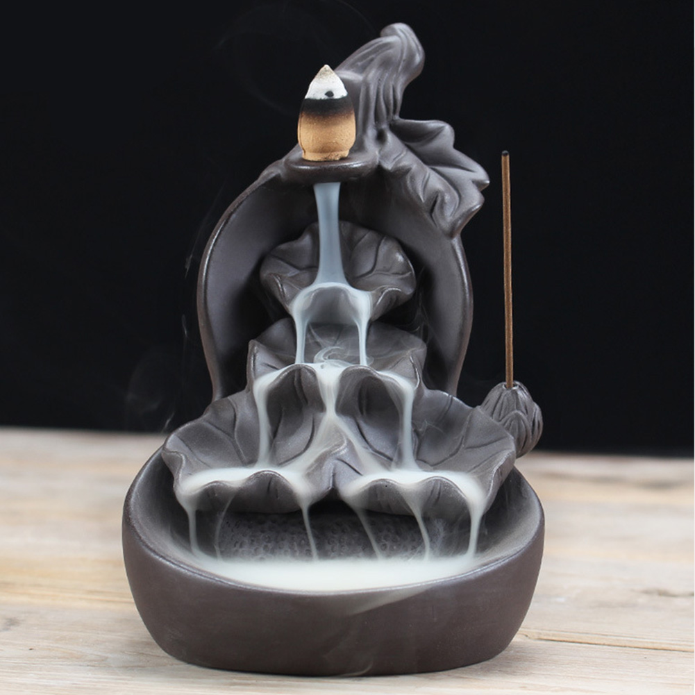 Burner Decoration Office Fragrance Accessories Waterfall Home Exquisite Gourd Backflow Gift Multi Layer Incense Holder Ceramic