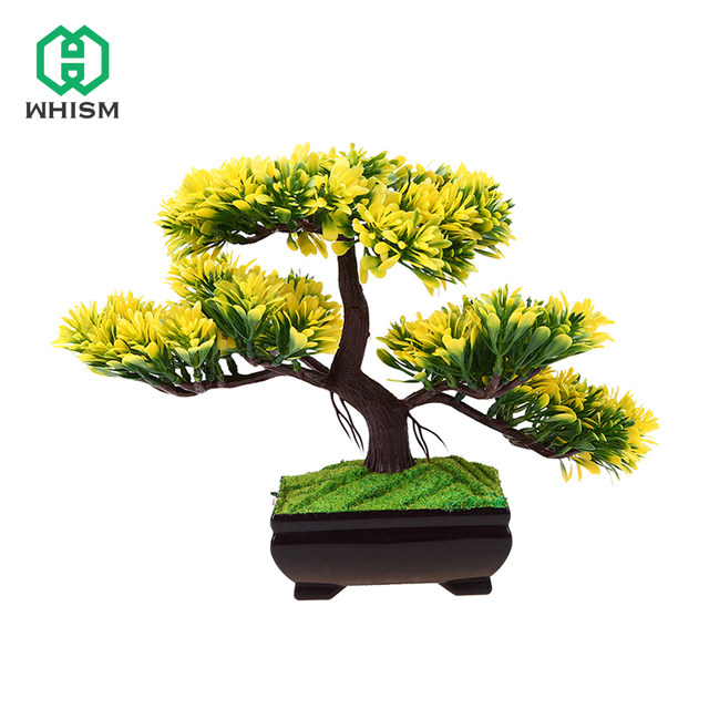 whism balcony simulation decorative pine tree artificial flowers