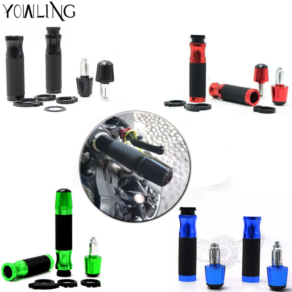 Hot sale motorcycle accessories CNC handlebar grips+handlebar ends cover 7/8