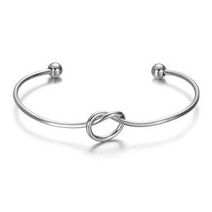 Image 4 - Bracelets en acier inoxydable avec nœud, fil ouvert, pour la fabrication de bijoux, 30 pièces/lot