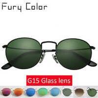 De calidad superior de la Lente de Cristal Steampunk redondo gafas de sol con montura de metal de las mujeres de los hombres de lujo de marca de diseño retro gafas de sol de conducción gafas
