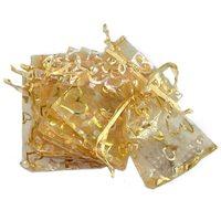FJS-100pcs Hình Trái Tim Organza Dây Kéo Túi Jewelry Đảng Wedding Favor Túi Quà Tặng Túi 9 cm X 12 cm (3 4/8 inch X4 6/8 i