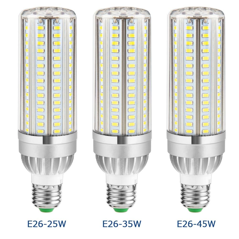 E27 Powerful LED Aluminum Corn Lamp led Bulb 220V Constant Current No Flicker 105 129 153leds Smart IC Energy saving Lights E26 lole капри lsw1349 lively capris xs blue corn