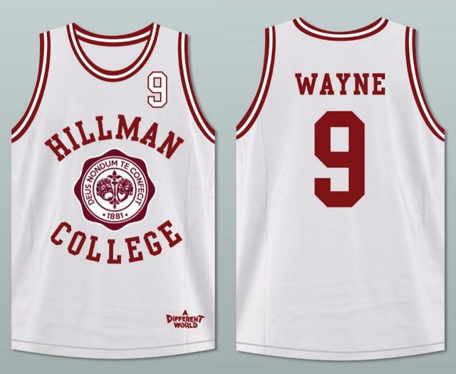 3c027bc2e007 Dwayne Wayne 9 Hillman College Theater Basketball Jersey A Different World  All Stitched Sewn Retro Movie Jersey Breathable