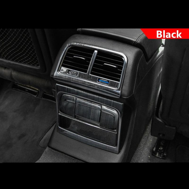 Car Rear Armrest Air Outlet Decoration Frame Cover Cigarette Light Panel Stickers Trim For Audi Q5 A4 2010-16  Auto Accessories