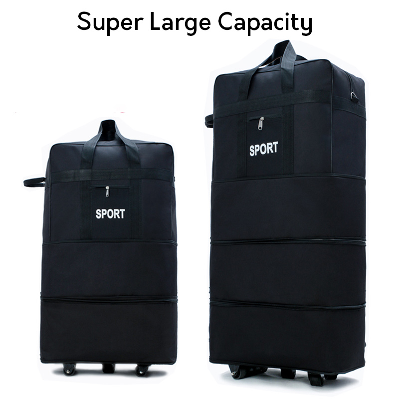 Large capacity carry ons waterproof rolling luggage bag trolley luggage bag portable luggage folding suitcase with wheel