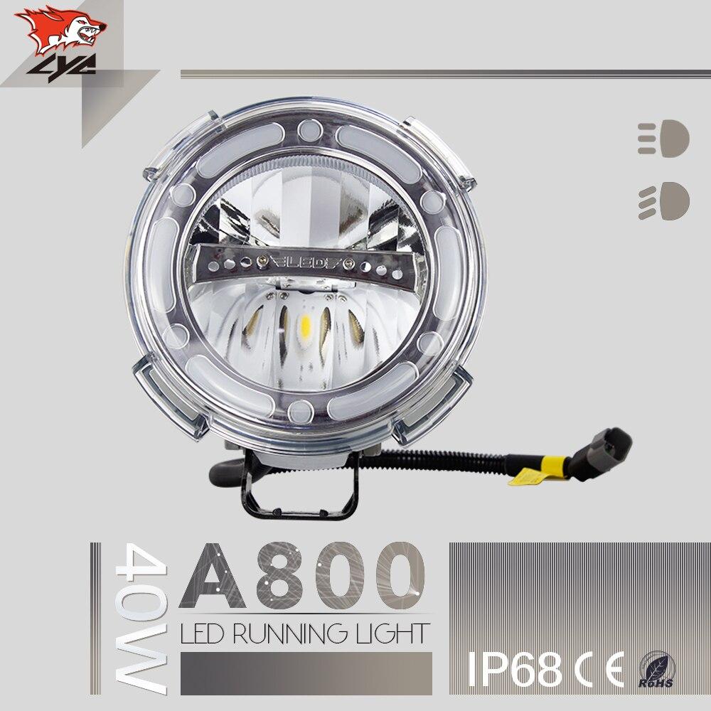 Лицей Бренд высокого Мощность 40W СИД 7 дюймов круглые светодиодные фары 12В 24В светодиодные дневные ходовые огни автомобиля Промотирования украшения низкая цена