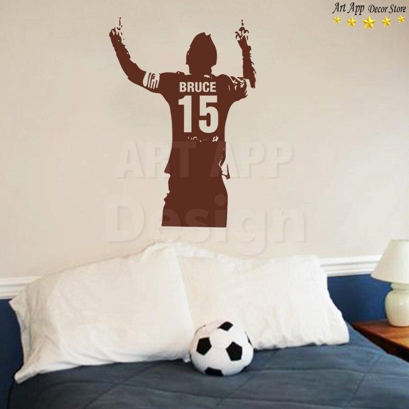 Sporting 3d Sport Football Art Wall Sticker Vinyl Decals Removable Living Bedroom Decor To Enjoy High Reputation In The International Market Nursery Décor
