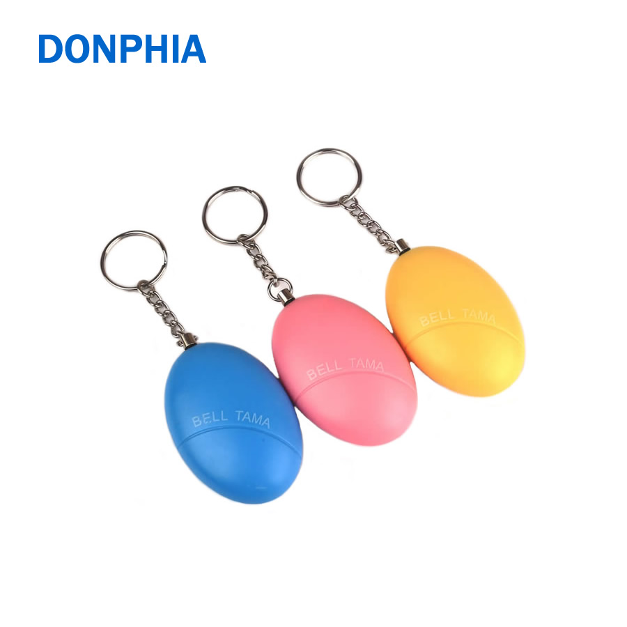 DONPHIA Anti Lost Alarm Supper Mini security Protect Alert Safety Personal Scream Loud Keychain Alarm Egg