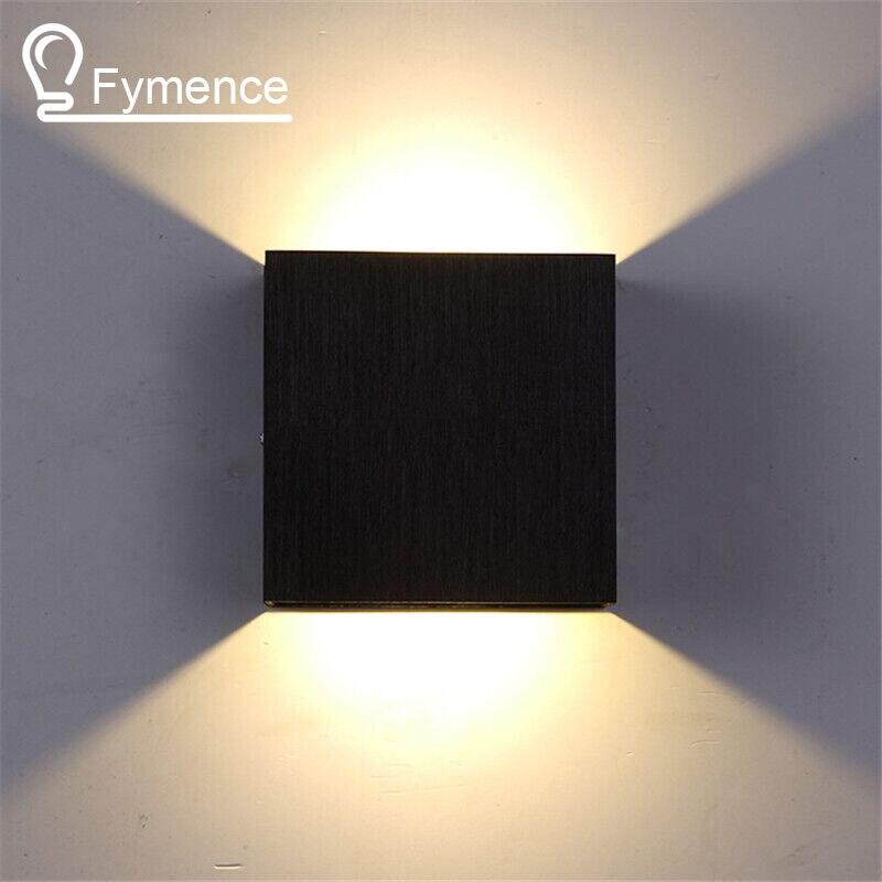 3W Led Wall Lamp 10CM 10CM 5CM Luminaire Apliques Pared Lamparas de Pared Wall Mount Light