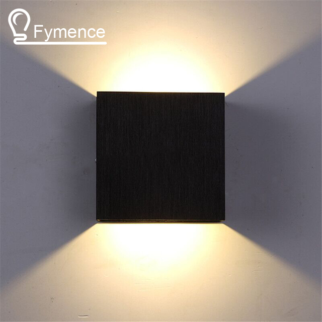 3W Led Wall Lamp 10CM*10CM*5CM Luminaire Apliques Pared, Lamparas de Pared, Wall Mount Light Lamp for Bedroom, White/Warm White