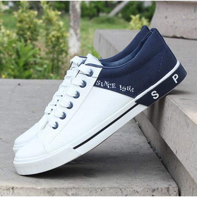 Mode casual hommes marée respirant toile chaussures de style Britannique chaussures lMDAmEh