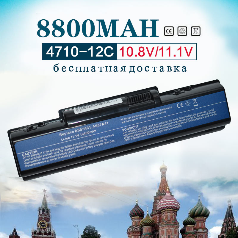 купить 8800mah 11.1V AS07A31 AS07A41 AS07A71 Battery For Acer Aspire 4315 4320 4330 4530 4535 4535G 4710G 4710Z 4715Z 4720Z 4720G 4730 по цене 1644.18 рублей