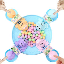 Aç kurbağa yeme fasulye çocuk tahta strateji oyunları oyuncak aile rekabetçi interaktif stres giderici oyuncak ilginç oyunlar