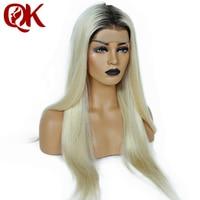 QueenKing волос Бразильский Человеческие волосы remy блондинка парик 150% плотность Ombre 1B 613 полный кружево Бесплатная доставка ночь